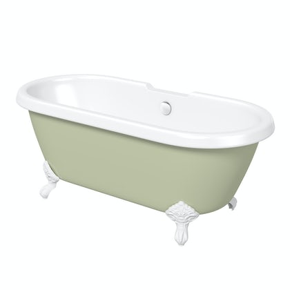 The Bath Co. Dulwich Sage coloured bath
