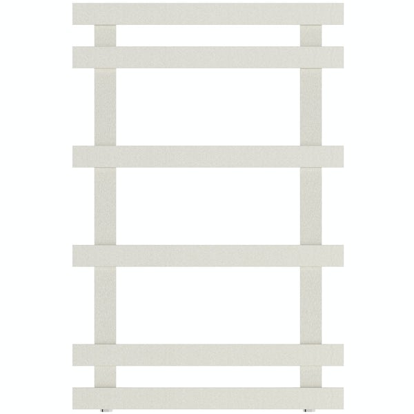 Daisy 6 bar heated towel rail 749 x 500