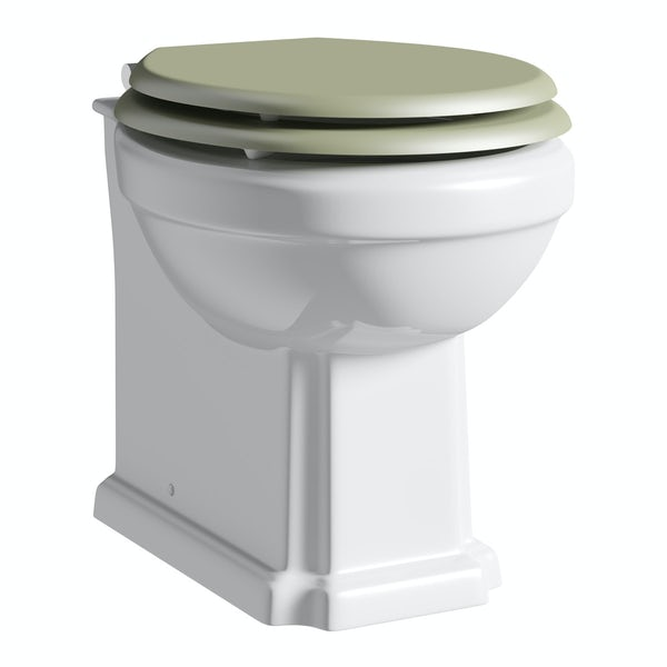 The Bath Co. Camberley back to wall toilet inc sage soft close seat