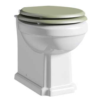 The Bath Co. Dulwich back to wall toilet inc sage soft close seat