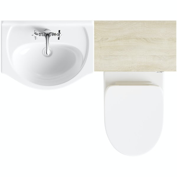 Eden oak 1040 combination with Energy back to wall toilet