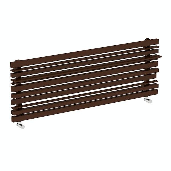 Sherwood terra brown horizontal radiator 440 x 1300
