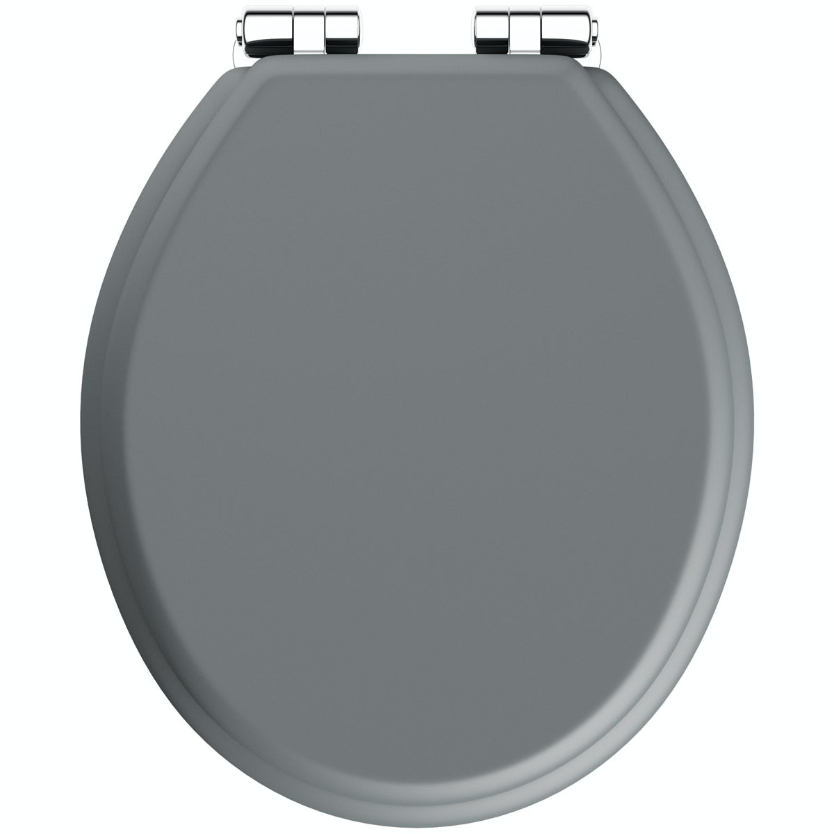 The Bath Co. traditional Dulwich stone grey engineered wood toilet seat with top fixing soft close hinge