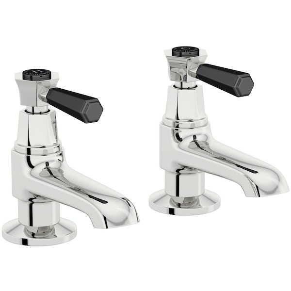 The Bath Co. Beaumont lever basin and bath pillar tap pack