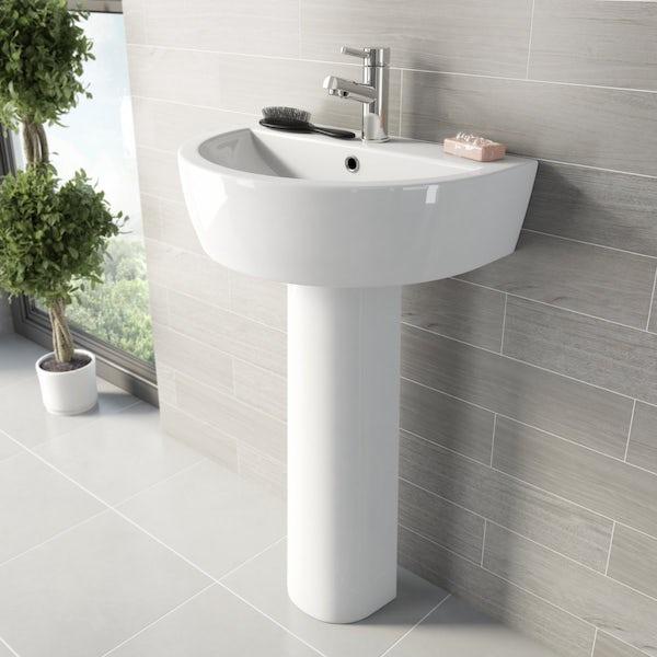 Arte bathroom suite with Arte freestanding bath 1500 x 700