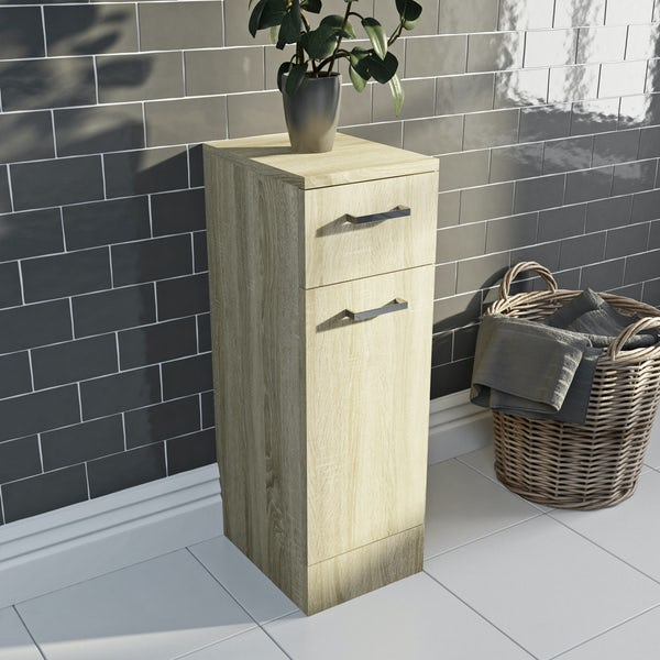 Eden oak linen basket 330mm