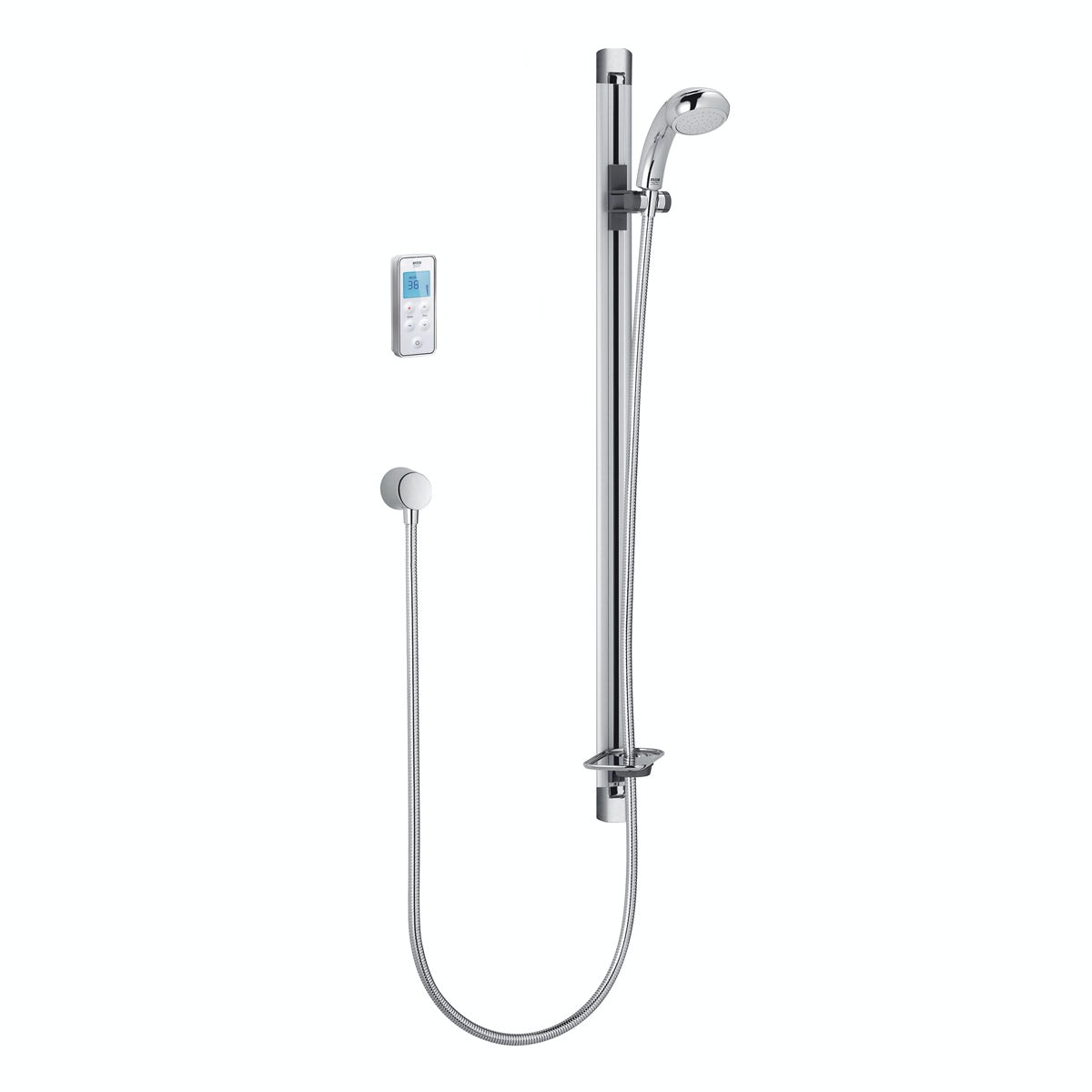 Mira Vision Flex rear fed digital shower standard