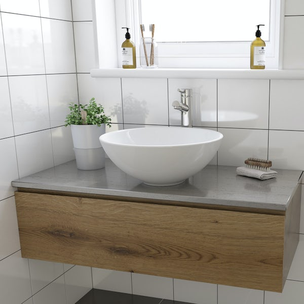 Derwent counter top basin with waste