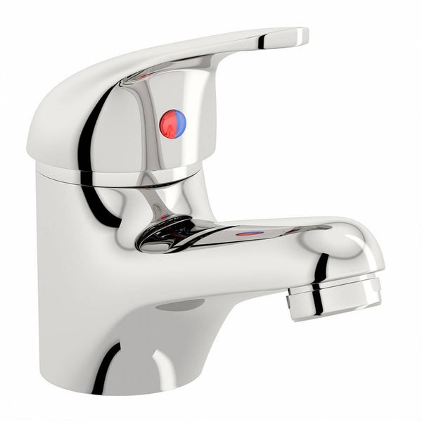 Clarity single lever bath shower mixer tap, slider rail and basin mixer pack
