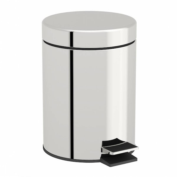 Options Round Stainless Steel 3l Bin