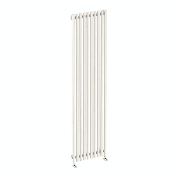 Tune soft white single vertical radiator 1800 x 490