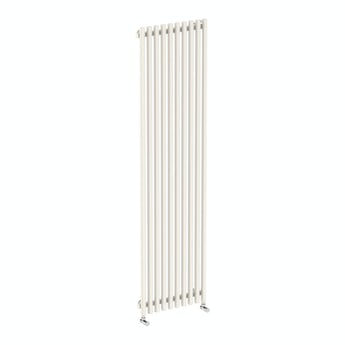 Terma Tune soft white single vertical radiator 1800 x 490
