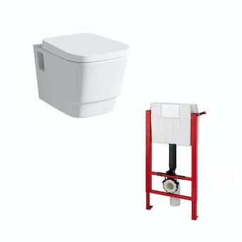 Princeton Wall Hung Toilet and Wall Mounting Frame