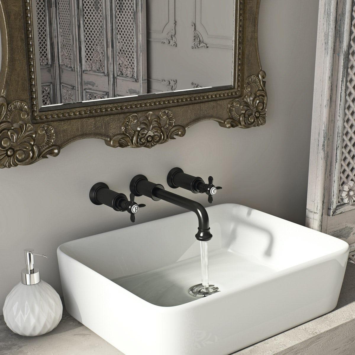 Belle de Louvain Castello wall mounted basin mixer tap ...