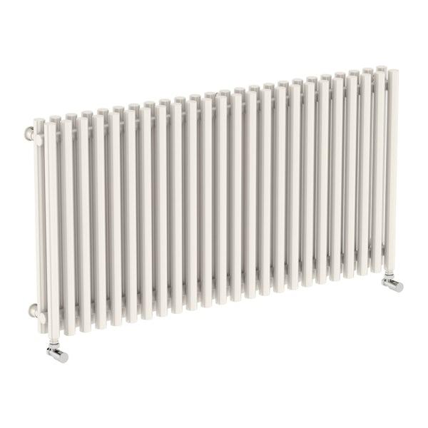 Tune soft white double horizontal radiator 600 x 1190