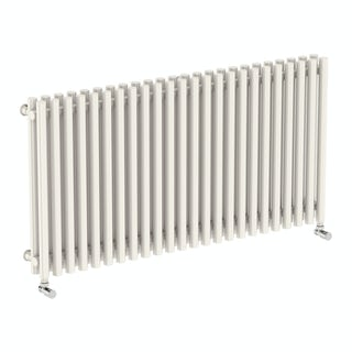 Tune soft white double horizontal radiator 600 x 1190