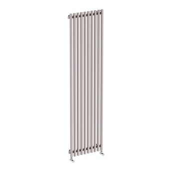 Terma Tune matt nickel single vertical radiator 1800 x 490