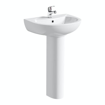 Clarity 1 tap hole full pedestal basin 540mm