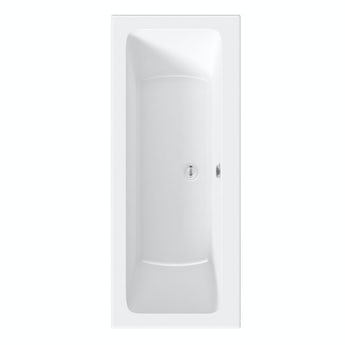 Orchard square edge double ended straight bath offer pack