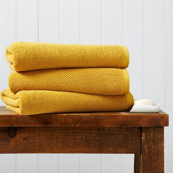Christy Brixton saffron bath sheet