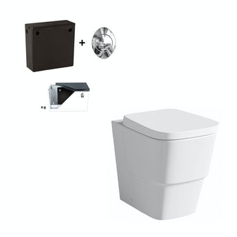 Mode Princeton back to wall toilet with soft close seat and concealed cistern