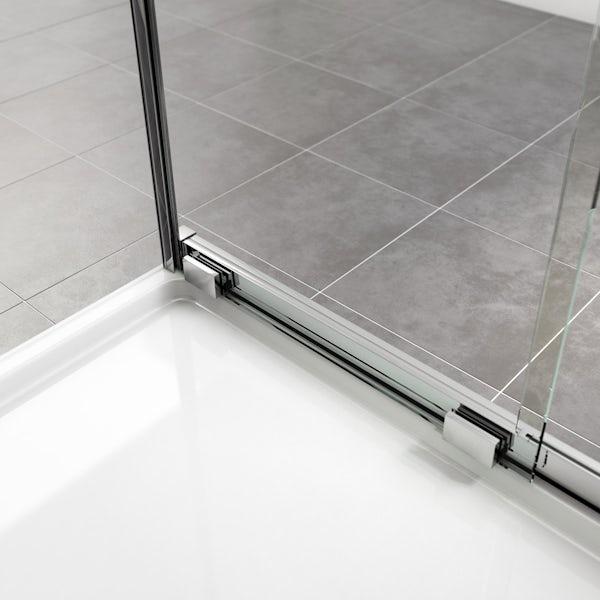Mode Levien 8mm easy clean right handed rectangular sliding shower enclosure