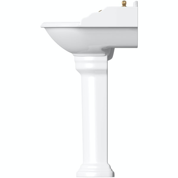 Belle de Louvain Bellini close coupled toilet and full pedestal suite with incalux fittings