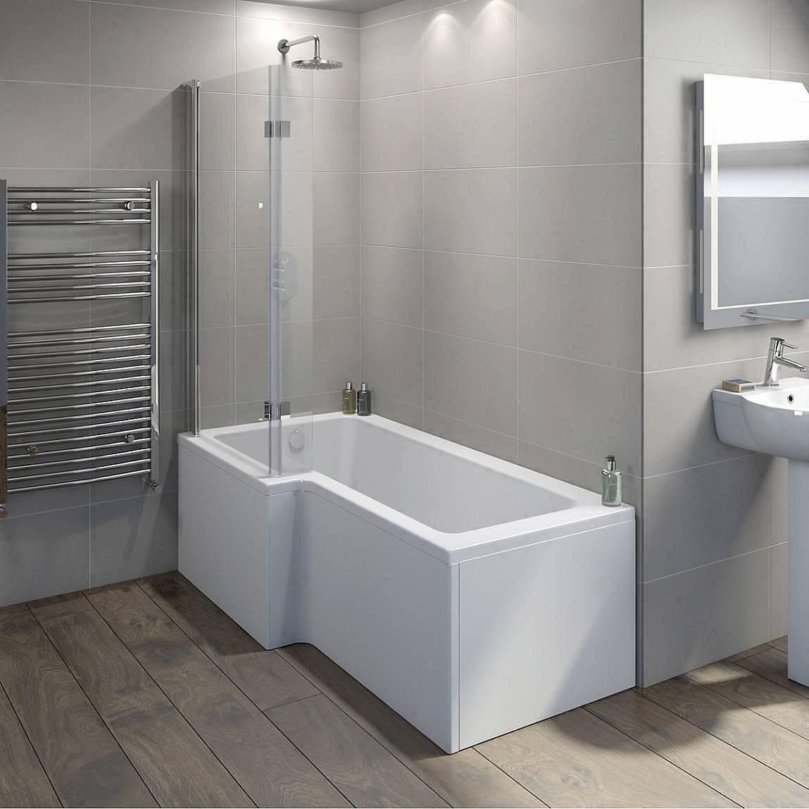 luxury shower baths mobroi com mode luxury 8mm hinged l shaped shower bath screen victoriaplum