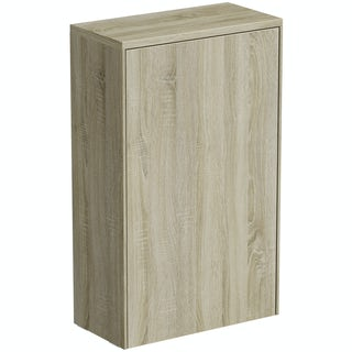 Mode Austin oak back to wall toilet unit