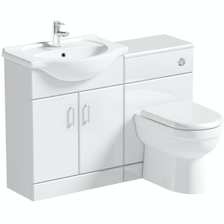 Orchard Eden white 1140 combination with Eden back to wall toilet