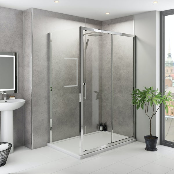 Multipanel Classic Premier Cool Mica unlipped shower wall panel 1200