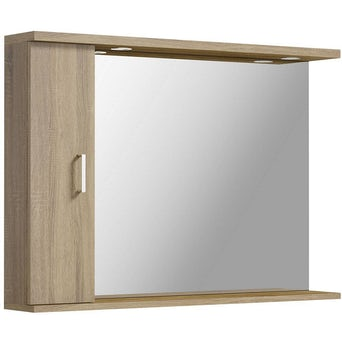 Sienna Oak 1050 Mirror with lights Special Offer
