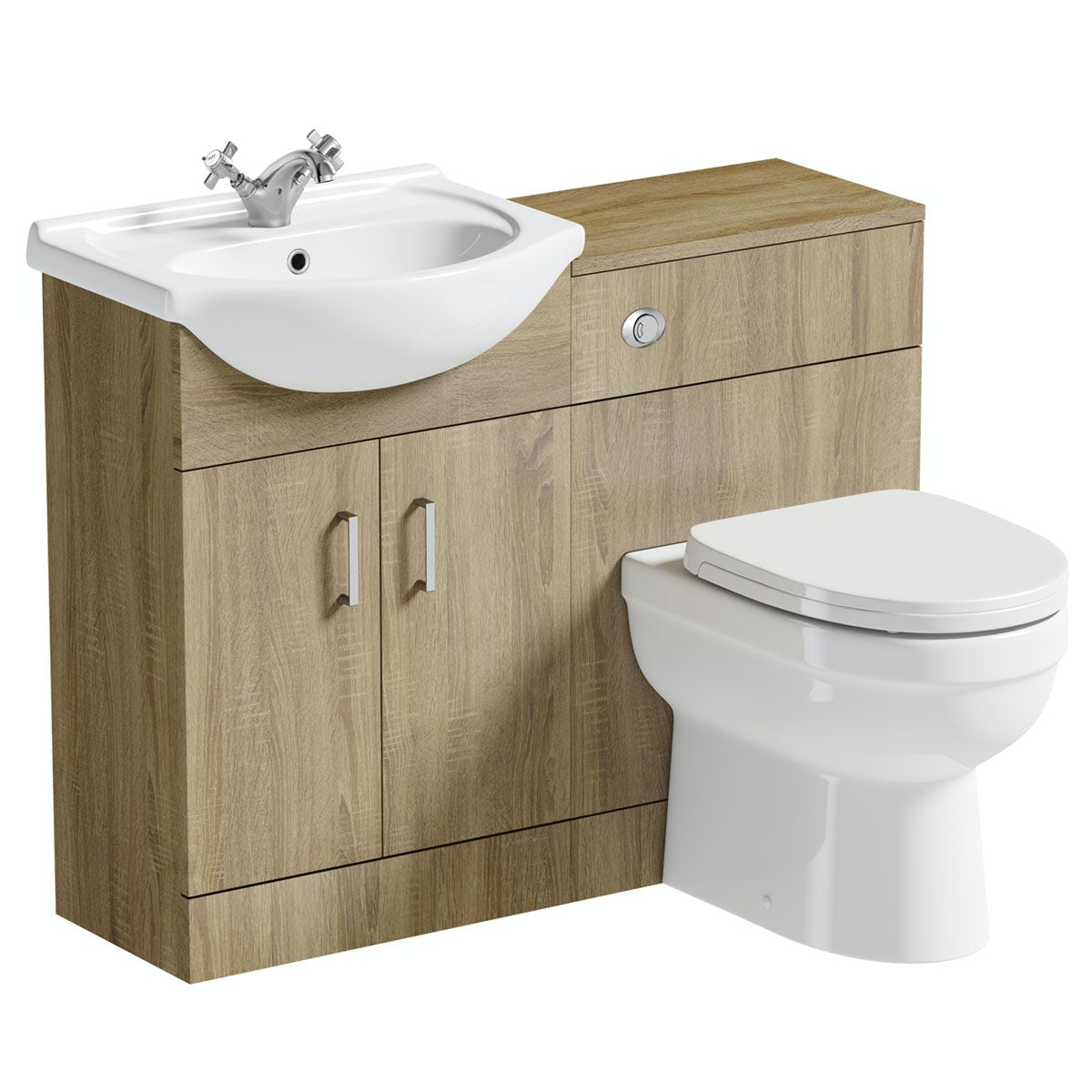 Sink And Toilet Combo Sienna Oak 1040 Combination And Eden Back To Wall Toilet