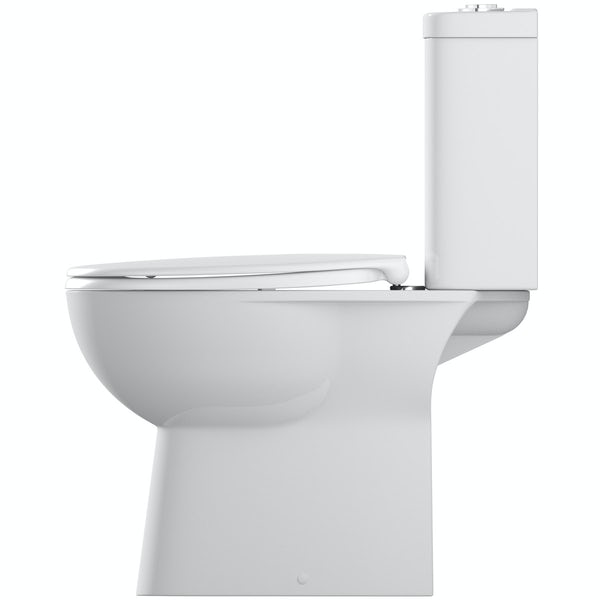 Grohe Bau rimless close coupled toilet with soft close seat