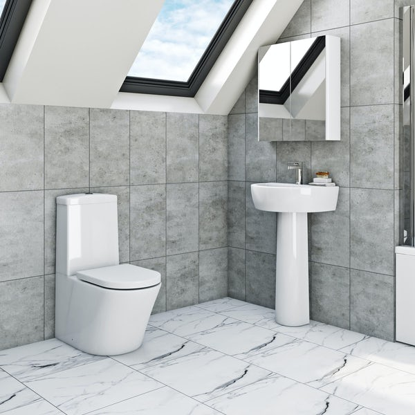 Mira and Mode Tate complete cloakroom suite 500mm