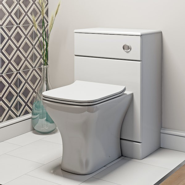 Derwent Square back to wall toilet with soft close slim toilet seat