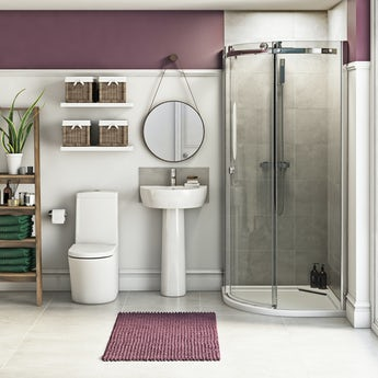 Mode Arte suite with 8mm Infiniti quadrant shower enclosure and tray