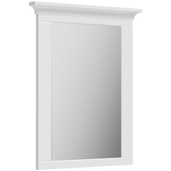 The Bath Co. Winchester white mirror