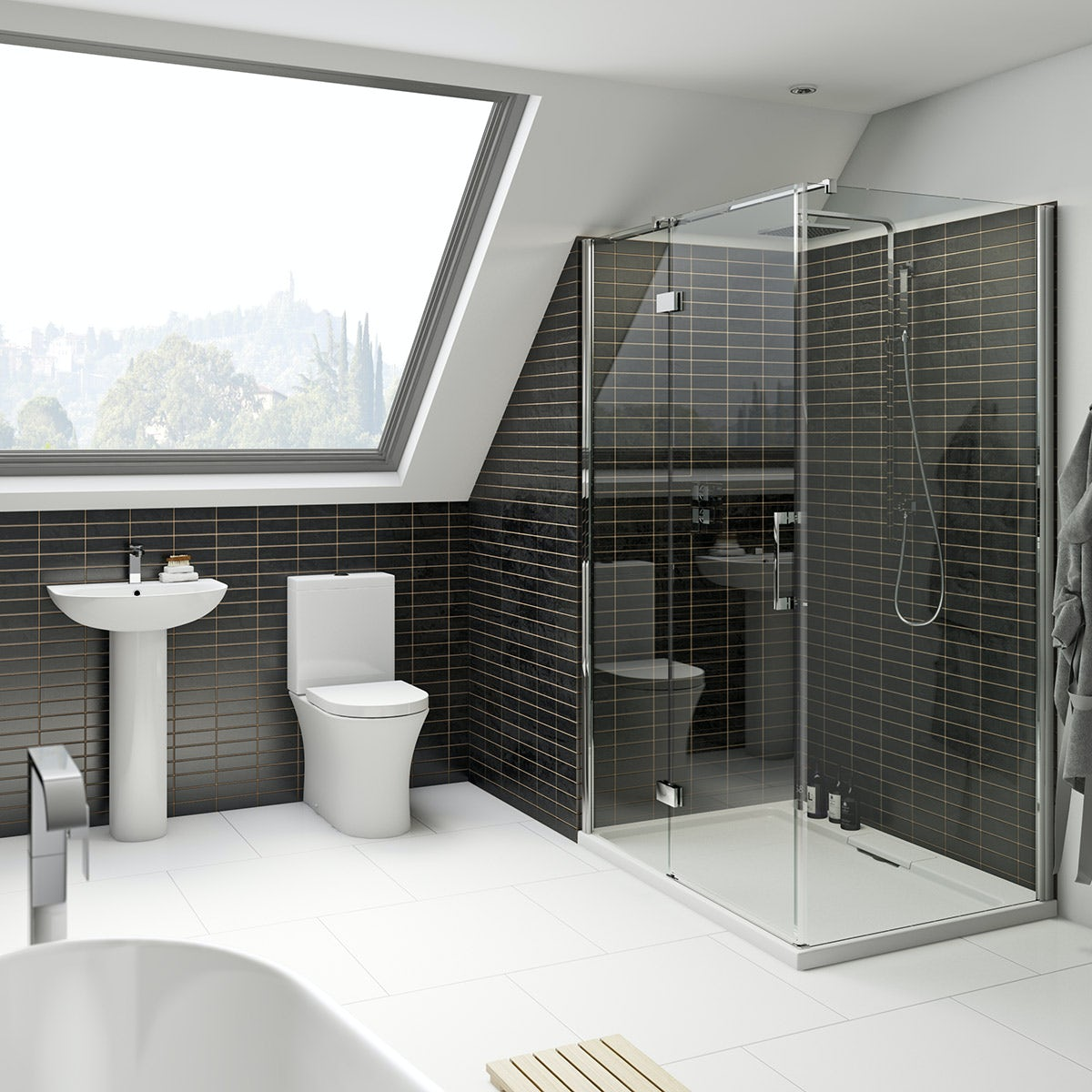 Mode Hardy ensuite suite with 8mm enclosure 1200 x 800