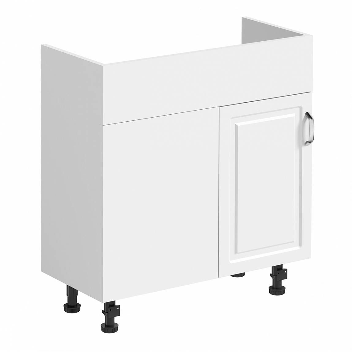 Florence white universally handed corner unit 700mm
