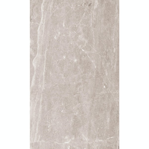 British Ceramic Tile Earth marble effect grey matt tile 298mm x 498mm
