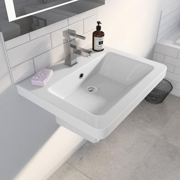 Cooper 1TH 550mm Basin & Semi Pedestal