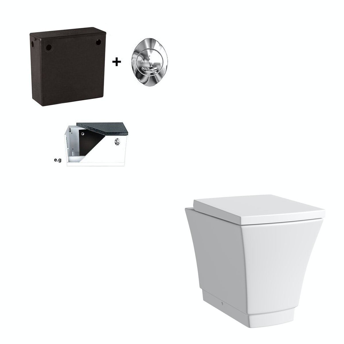Mode Austin back to wall toilet with soft close seat and concealed cistern