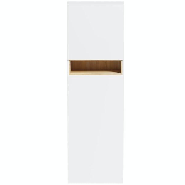 Mode Tate white & oak tall toilet unit
