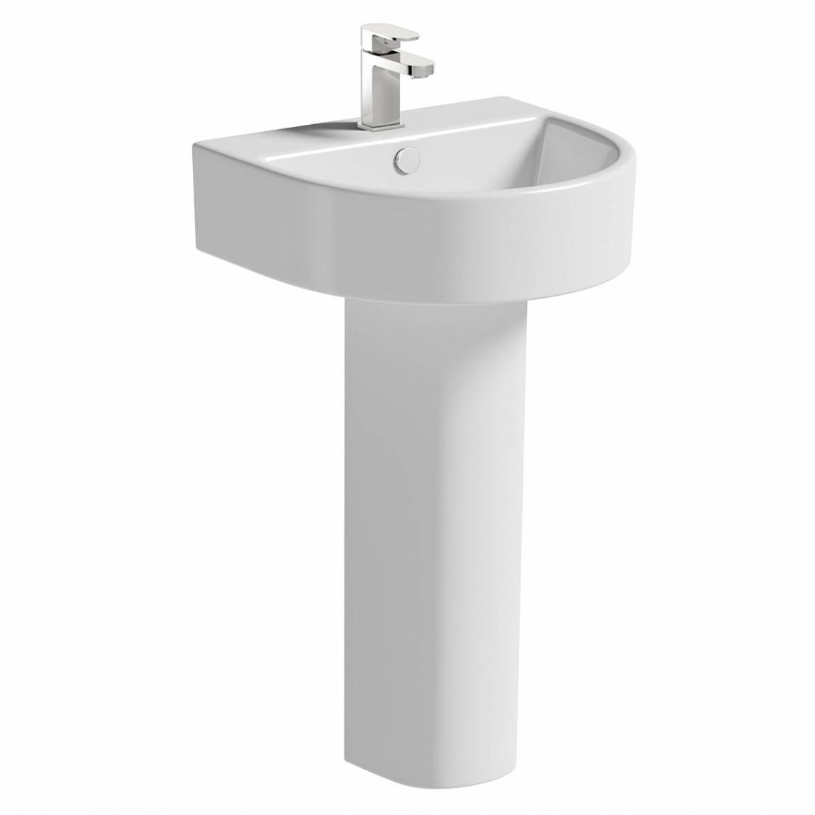 Orchard Dee 1 tap hole full pedestal basin 510mm