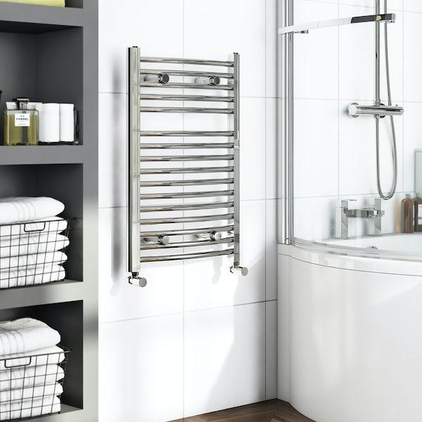 Curved Heated Towel Rail 750 x 450