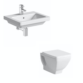 Cooper Back To Wall Toilet and Wall Hung Basin Suite