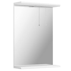 Sienna white bathroom mirror with lights 550mm offer pack