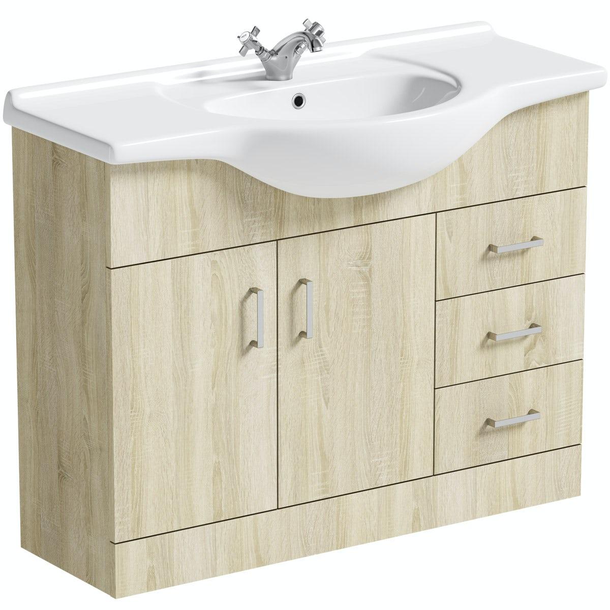 Orchard Eden oak vanity unit and basin 1050mm