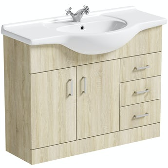 Eden oak vanity unit and basin 1050mm